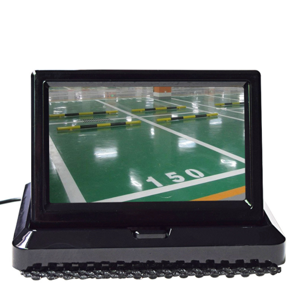 5.0″ Color HD CCD Car Display 5 Inch Folding New Digital Screen 2 Channel Video Input DVD Player DC 12/24V Monitor