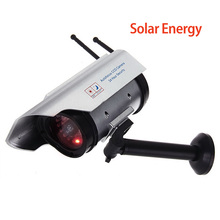 Outdoor Solar Powered Waterproof Fake Camera Dummy CCTV Security Surveillance Flashing Red LED Light Video Anti-theft Camera