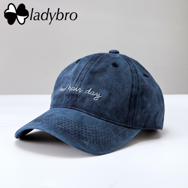Ladybro Bad Hair Day Cap Washed Baseball Cap Women Men Hat Cap Casual  Snapback Letter Dad Hat Summer Cotton Adjustable Bone Male fcafb92fc87