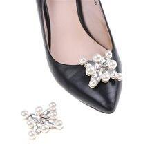 4f90245f1f60f1 1 Pcs Flower Clip Inserting Buckle Rhinestones Crystal Pearl Shoes  Decoration Women Decorative Accessories Insert Bead Fitting