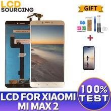 """A CRISTALLI LIQUIDI Per Xiaomi Mi Max 2 IPS da 6.44 """"pollici Display LCD Touch Screen Digitizer Assembly con Telaio per Mi max2 di Ricambio"""
