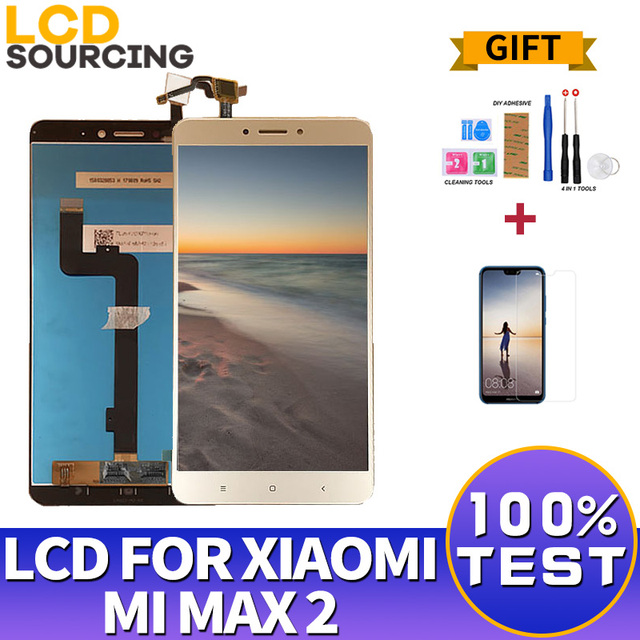 """LCD For Xiaomi Mi Max 2 IPS 6.44""""inch LCD Display Touch Screen Digitizer Assembly with Frame for Mi Max2 Replacement"""