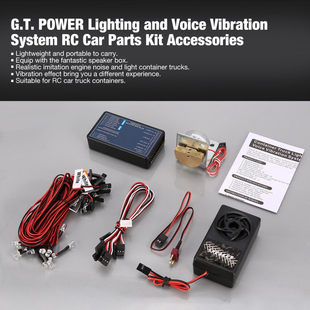 G.T. POWER Lighting And Voice Vibration System RC Car Parts Kit For Tamiya RC4WD Tractor RC Car Vehicle Accessories
