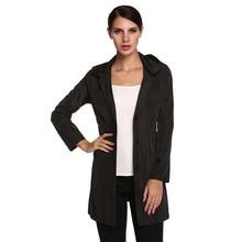 ACEVOG Brand Women Jacket Raincoat Plus Size Autumn Winter Manteaux Femme Stylish Ladies Packable Solid Casual Hoodie Thin Coat