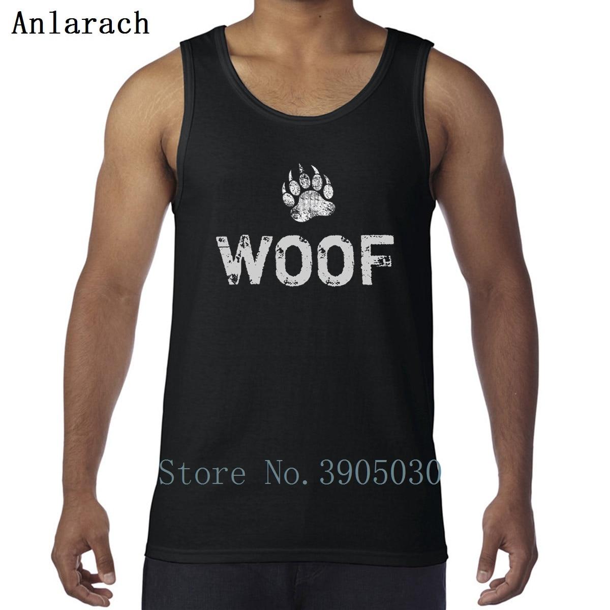 Gay Bear Pride Distressed Bear Paw Woof Vest Crew Neck Hilarious Printing Sunlight Tank Top Men Free Shipping Sportswear