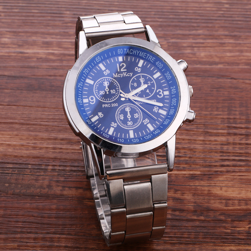 High Quality Sport Quartz Watch Men Stainless Steel Men Watches Hot Sale Business Clock Wrist Watch Relogio masculino in Quartz Watches from Watches