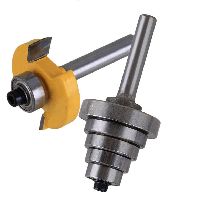 1pc 1/4 Shank  Carbide Router Bit Cemented Rabbet Woodworking Cutter with 6 Bearing For Power Tool 1pc 1 4 shank cemented rabbet carbide router bit with 6 bearing for woodworking cutter power tool