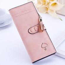 купить Brand Leather Women Wallets High Quality Designer Zipper Long Wallet Women Card Holder Ladies Purse Money Bag Carteira Feminina по цене 859.96 рублей