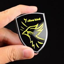 1pc Car Styling Yellow Bird Shield Car Emblem Decal Badge Fuel Cap Cover Sticker