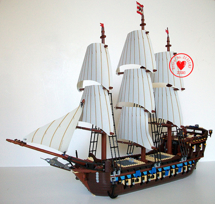 22011 1779pcs model Building Blocks Sets Pirate Ship Imperial Warships lepin 10210 Caribbean Pirate Ship Toys Children