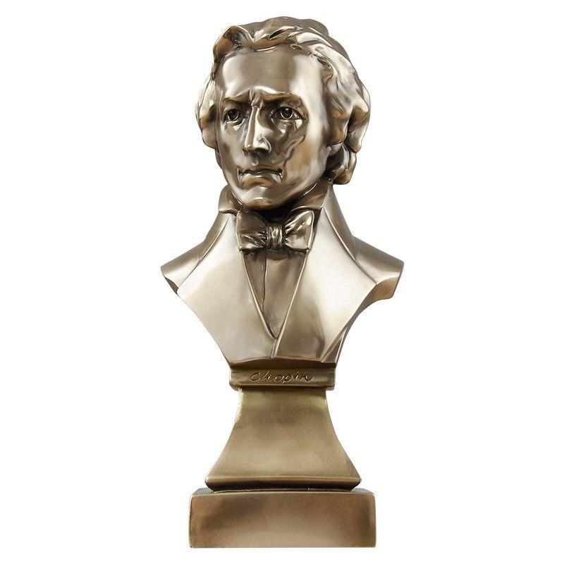 Bronze Fryderyk Franciszek Chopin Bust Statue Abstract Figure Musician Figurine Resin Art&Craft Home Decoration R1436|Statues & Sculptures| |  - title=