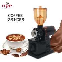 ITOP Stainless Steel Electric Ceramic Coffee Grinders Bean Milling Machine 8-Speeds Mills Grinder 110V/220V