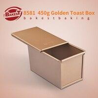 BAKEST 450g Aluminum Alloy Golden Toast Bread Loaf Baking Pan Rectangular Cake Mold