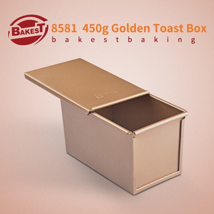ᗗBAKEST 450g En Aluminium Alliage D or Toast Pain Pain Plat De
