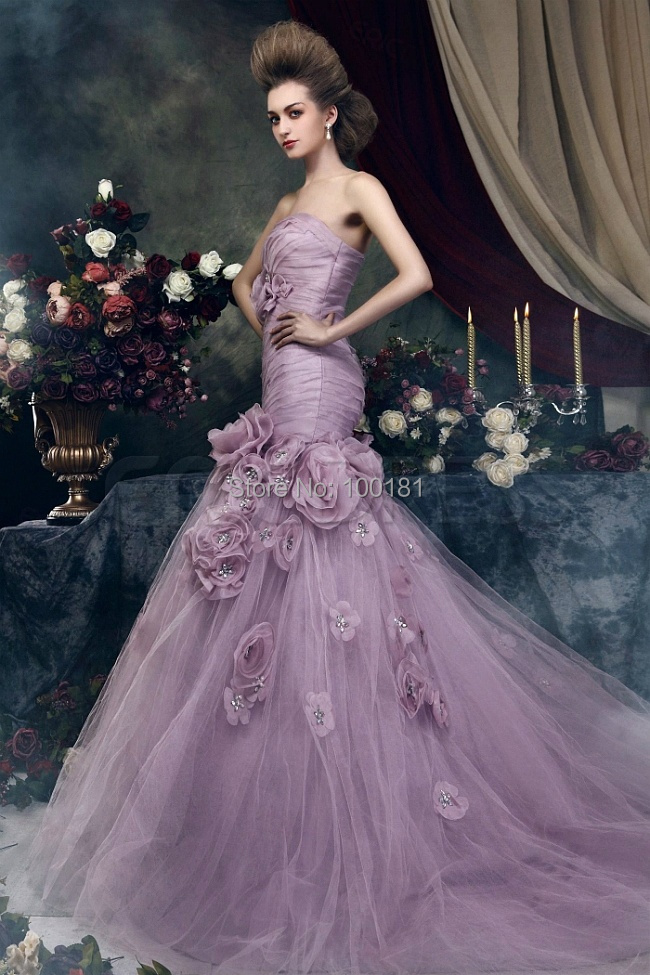 New Fashion Shimmering Mermaid Layered Puff Skirt Classic Lilac ...