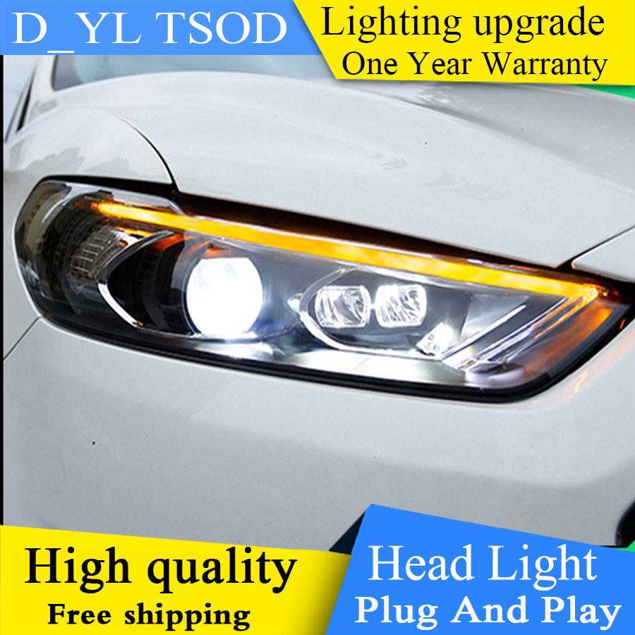 Car Styling Head Lamp For Ford Mondeo For Fusion headlight Assembly 2013 2014 2015 2016 LED