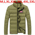 Winter jacket men 2016 New Big Plus Size Warm Down Parka Coats Casual Man Top Army Green,Black,Orange,Khaki M,XL,XXL,3XL,4XL,5XL