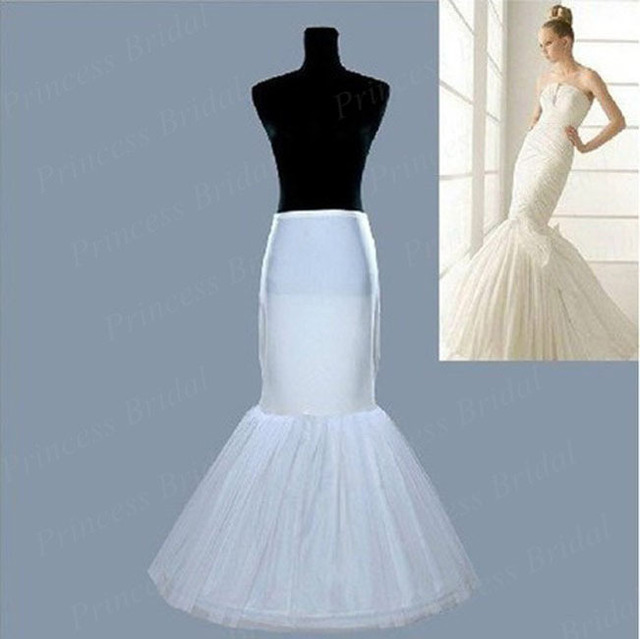 Mermaid Petticoat Elastic Waist Wedding Slip Underskirt Crinoline 1 Hoop Bone Petticoat For Wedding Dress PT001