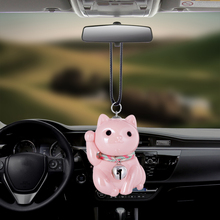 Car Pendant Lucky Cute Fortune Cat Doll Hanging Ornaments Automobiles Rearview Mirror Suspension Decoration Accessories Gifts