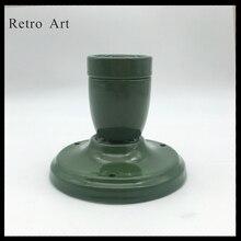 Retro Loft Vintage Industrial Edison pared cerámica colgante lámpara colorido colgante luces accesorio E26 E27