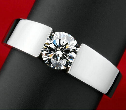 men silver color wedding Ring Engagement Rings Zirconia Anel Jewelry For Women Love Bague Anillos Mujer Gift free shipping