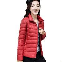 Guoran Stand Collar Women Down Jackets 18 Colors Female Plus Size 3xl Ultra Light White