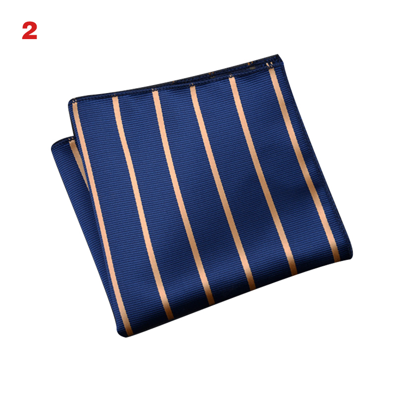 Men's Handkerchief  Striped Floral Printed Hankies Polyester Business Pocket Square Chest Hanky KS-shipping