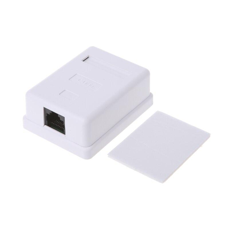 Портативный локальной сети Tool Kit UTP Cat5e RJ45 8P8C HM-HB01 модель utp-неэкранированная один порт Desktop крепление коробки
