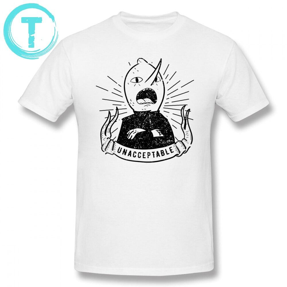Adventure Time T Camicia Inaccettabile T-Shirt Stampa 100 Per Cento Cotone Tee Shirt Casual Divertente Corto-Manica Oversize Maschio Tshirt