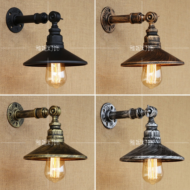 Vintage retro loft industrial light personality gear wall lamps water pipe Restaurant Bar pub Cafe aisle bedroom bra wall sconce цена