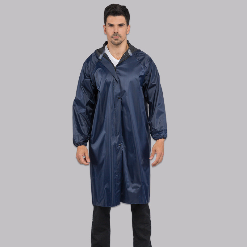 Raincoat Women Rainwear Men Rain Coat Impermeable Stylish Black Outdoor Men's Long Style Hiking Poncho Environmental rain c