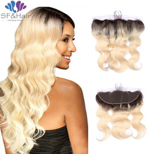 Top Grade Ombre Blonde Lace Frontal Closures 13*4 Brazilian Body Wave Frontal #1B/613 Brazilian Virgin Hair Lace Frontal