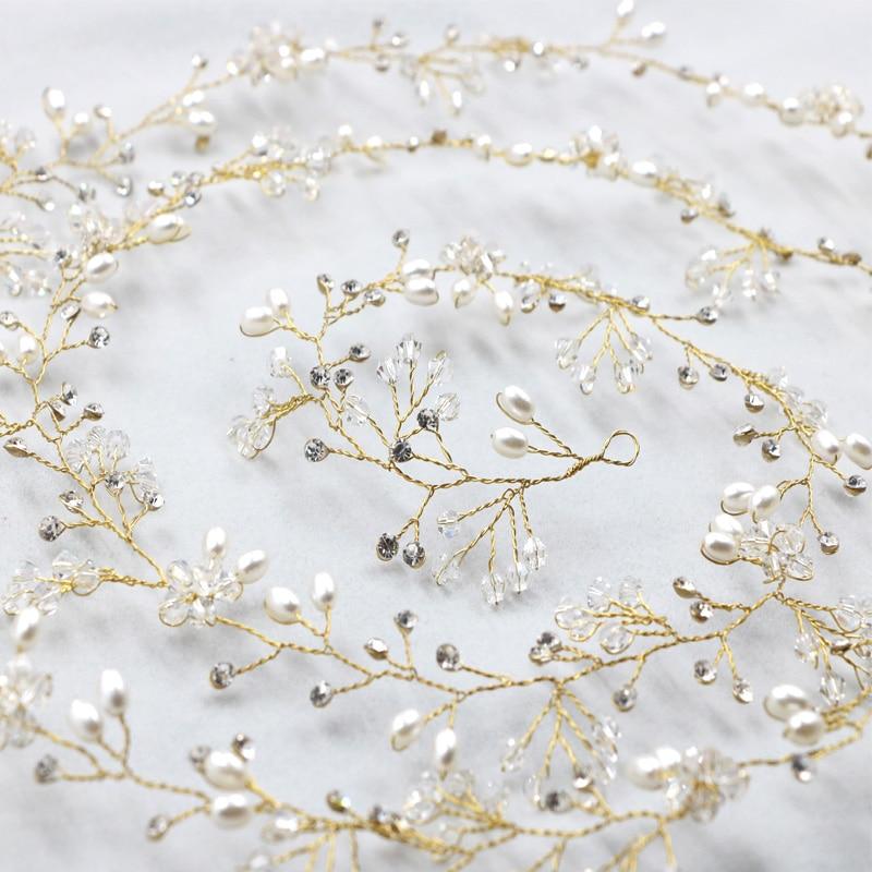 Long Tiara Bridal Headbands Wedding Headpiece Pearl Jewelry - Նորաձև զարդեր - Լուսանկար 6