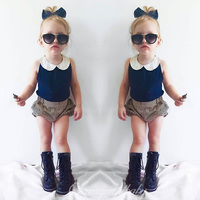 2016 New Fashion Baby Clothing Set Baby Girl Sets Tshirt Short Pants Newborn Bebe Spring Summer