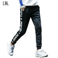 Men Joggers Hip Hop Pencil Feet Pants Elastic Waist Men Skinnly Pencil Pants Men Slim Fit