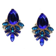 new Vintage Crystal Diamante Rhinestone Wedding colorful Flower earrings for women Party Gifts