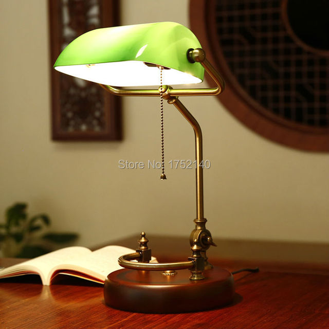 Classic chinese retro desk lamp green glass table light adjustable classic chinese retro desk lamp green glass table light adjustable bronze metal frame aloadofball Gallery