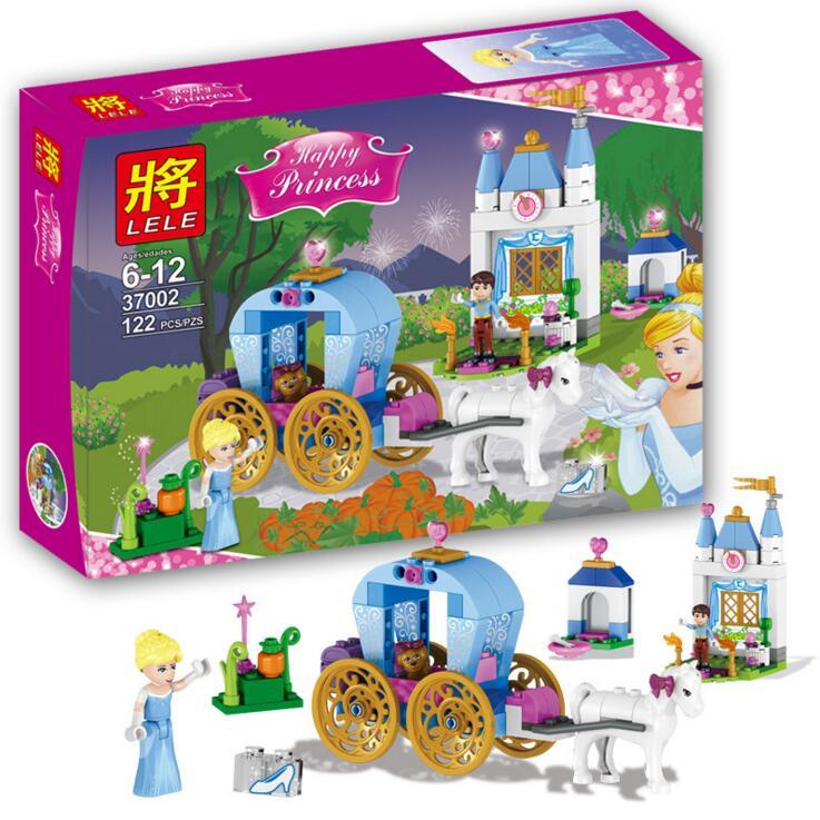 37002 Princess girl toy Anna Elsa Kristoff Sleigh Adventure Building blocks Kit Anna Kristoff Sevn the