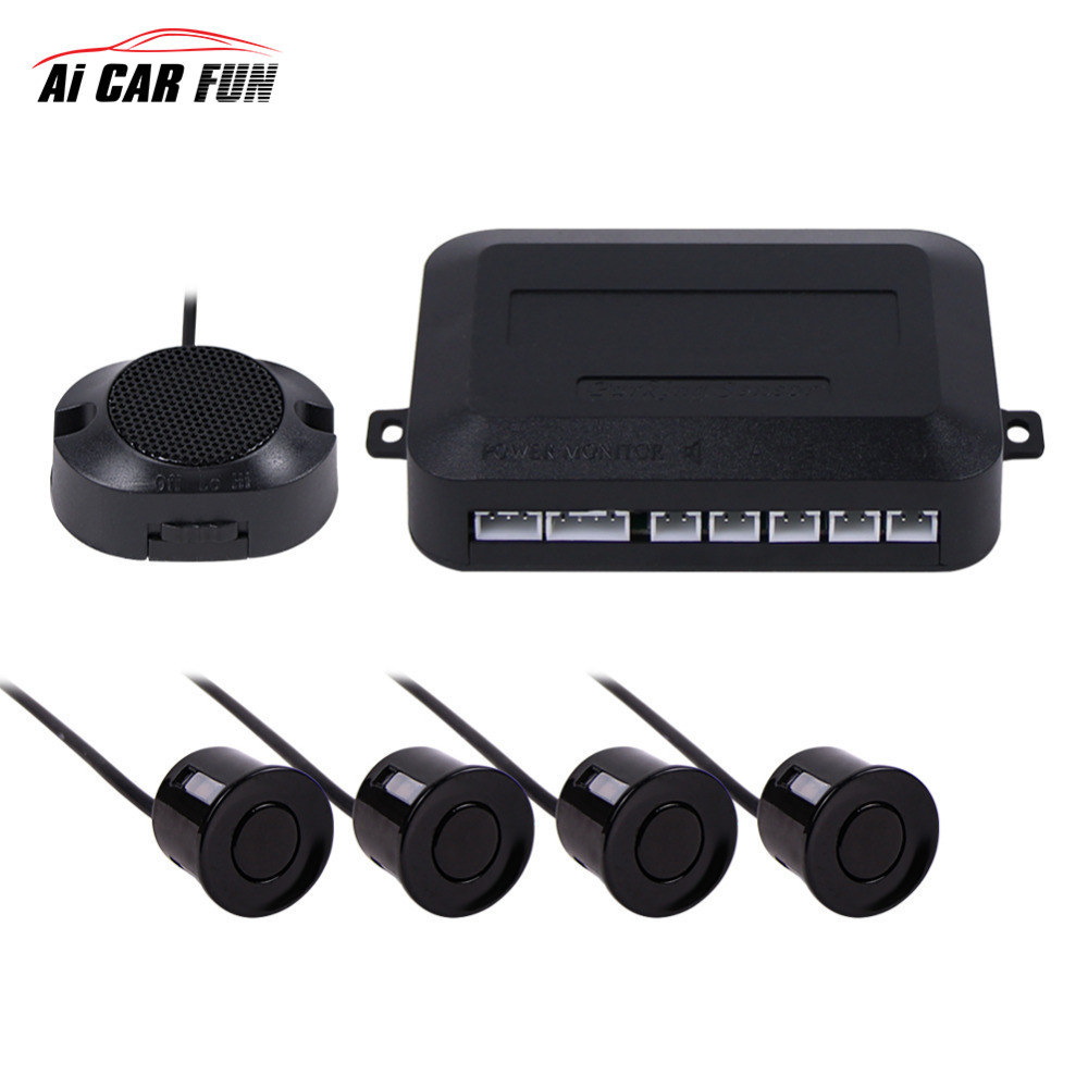 Carro Auto Backlight Display LED Sensor de Estacionamento Parktronic Monitor do Sistema Detector De Radar Com 4 Sensores de Estacionamento Reversa de Backup