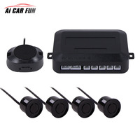 LED Parking Sensor Car Auto Backlight Display Parktronic Car Parking Radar Monitor Detector System With 4