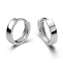 Classic Smooth Hoop Earring for Women Silvery color ear Jewelry DropShipping