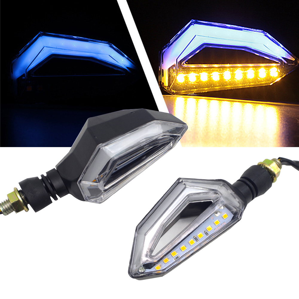 LED Clignotant Moto 12V indicateur Moto Clignotant DRL lampe pour YAMAHA Fazer 600 FZ6S FZ6N FJ 09 FJR 1300 T