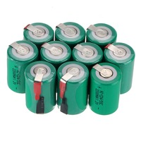2-16 штук anmas Power Green 1,2 V 4/5 SC Sub C 2200 mAh Ni-CD nicd Sub C аккумуляторные батареи
