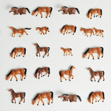 30pcs HO Scale painted Farm Animals Horse Scae Model Horses for Railway NEW