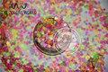 B-Mezcla de Neón de Colores Forma de LA FLOR Del Brillo Resistente A los Disolventes para uñas de arte polaco y la decoración de DIY Tamaño: 3mm 1 pack = 50g