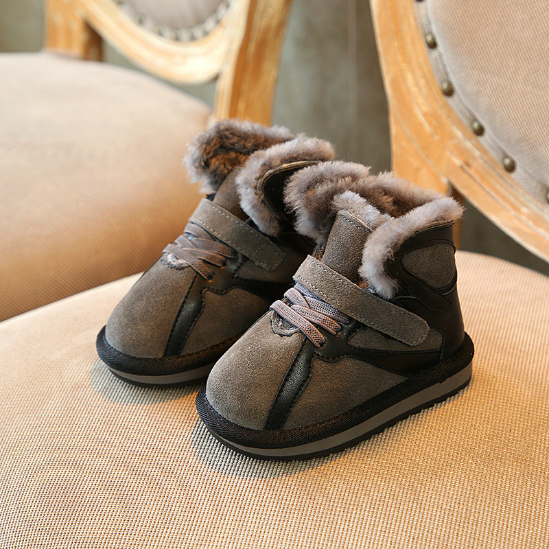91dfbaaa552 Aliexpress.com   Buy Claladoudou 13.5 21.5CM Brand 2018 Winter Toddler Baby  Girl Snow Boot Child Fashion Genuine Leather Fur Warm Kid Ankle Boots from  ...