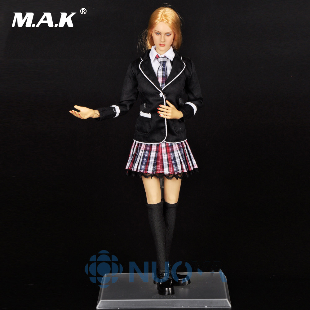 DIY Doll Toys 1/6 Scale Beautiful Female School Girl Full Set,Head Sculpt+Body+Clothing Accessories For 12 Action Figure Doll 1 6 scale figure accessories doll female head for 12 action figure doll head shape fit phicne