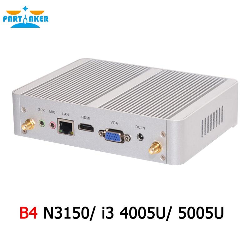 Usado, Partaker 14nm b4 intel quad core n3150 dual core i3 4005u/5005u procesador htpc mini pc segunda mano  Se entrega en toda España