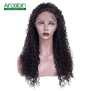 360 Lace Frontal Wig Pre Plucked With Baby Hair Human Hair Wigs Indian Kinky Curly Wig Remy Hair Lace Wigs Aircabin 130% Density
