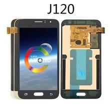 Оригинальный OLED для samsung Galaxy J1 2016 ЖК-J120M J120F J120 Дисплей сенсорный экран планшета сборки